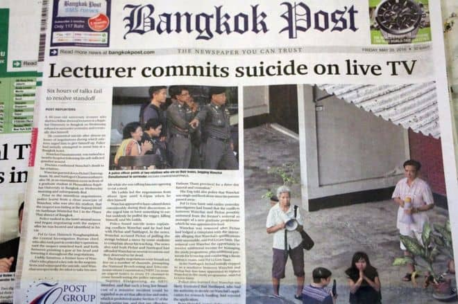 After dominating TV channels, the suicide threat continued to dominate newspaper headlines on Friday (BBC)