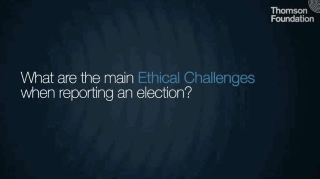 What are the main ethical challenges when reporting an election?