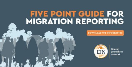 EJN 5 point guide on Migration Reporting download infographic