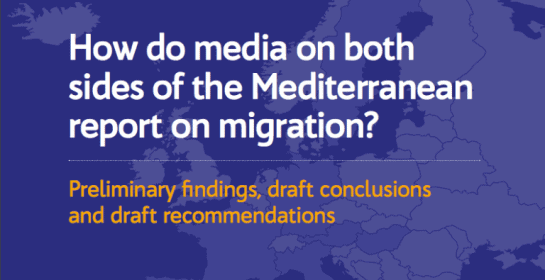 How do media on both side of the mediterranean report on migration?