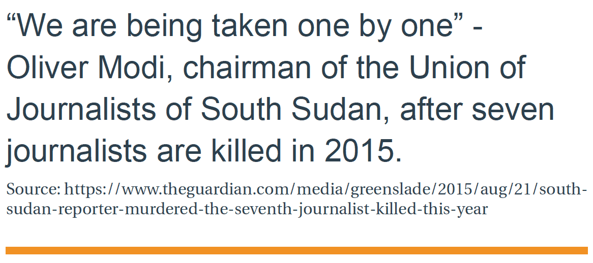 The muzzling of independent journalism in South Sudan