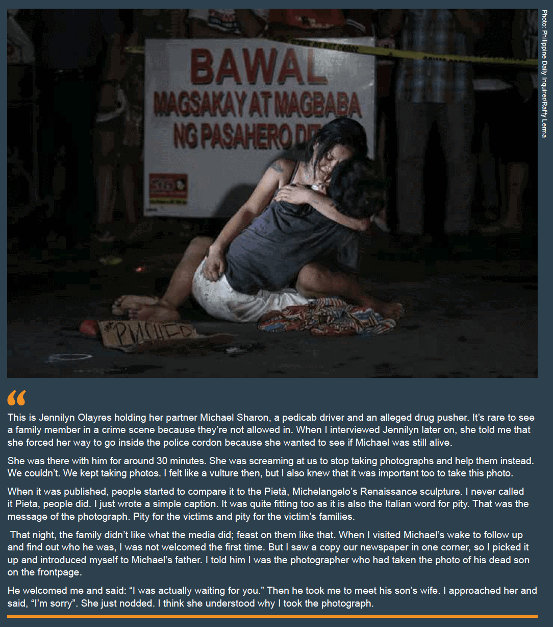 Ethics through the lens: Photographing The Drug War In The