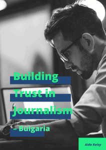Building Trust in Journalism - Bulgaria