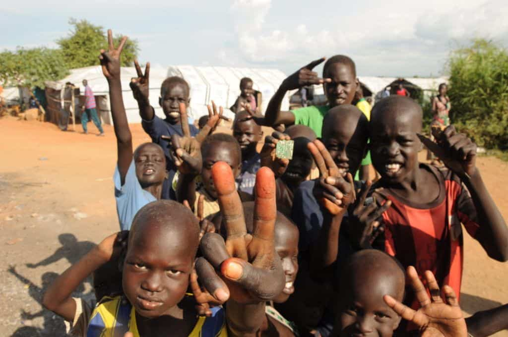 As the impact of July crisis 2016 most of the children are seeking refuge at UN protection of civilian site poc in Juba. (Photo: Jok Solomun)