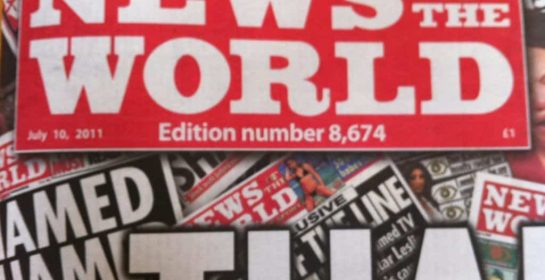 Final edition of News of the World newspaper edition number 8,674, July 10th 2011