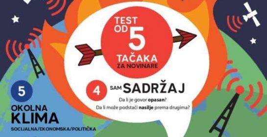 5 point Hate Speech infographic in Albanian by EJN