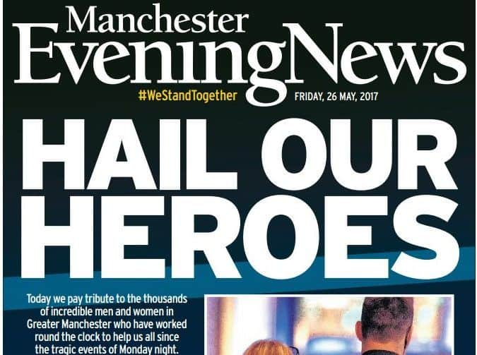 MEN Manchester Bombing Front Page