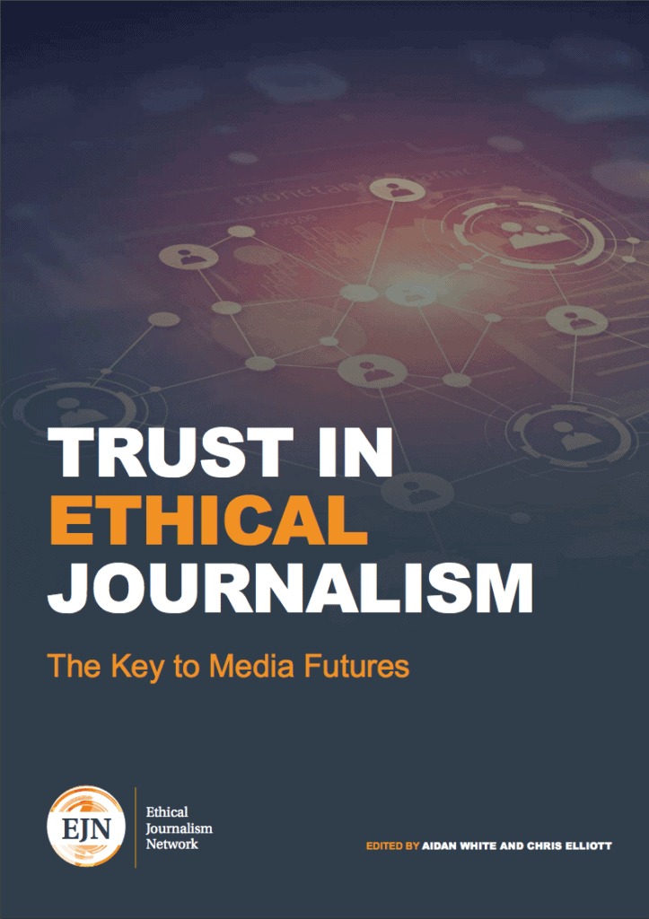 Trust in Ethical Journalism, looks at how the communications revolution is continuing to pose more questions than answers over a public crisis of confidence, both in democracy and in sources of public information.