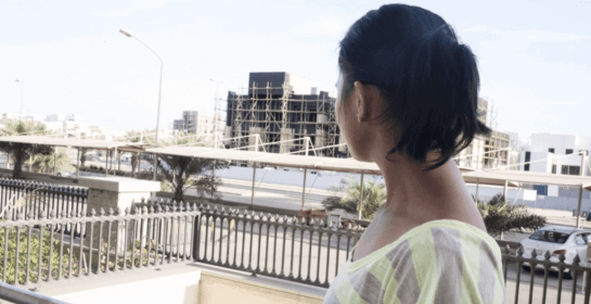Filipina domestic worker Rita, whose name has been changed to protect her identity, plans to press charges against her Kuwaiti employers for abuse she suffered in their home. Credit: Alisa Reznick/PRI