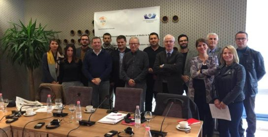 Some of the participants at the Building Trust in Media meeting Pristina (EJN)