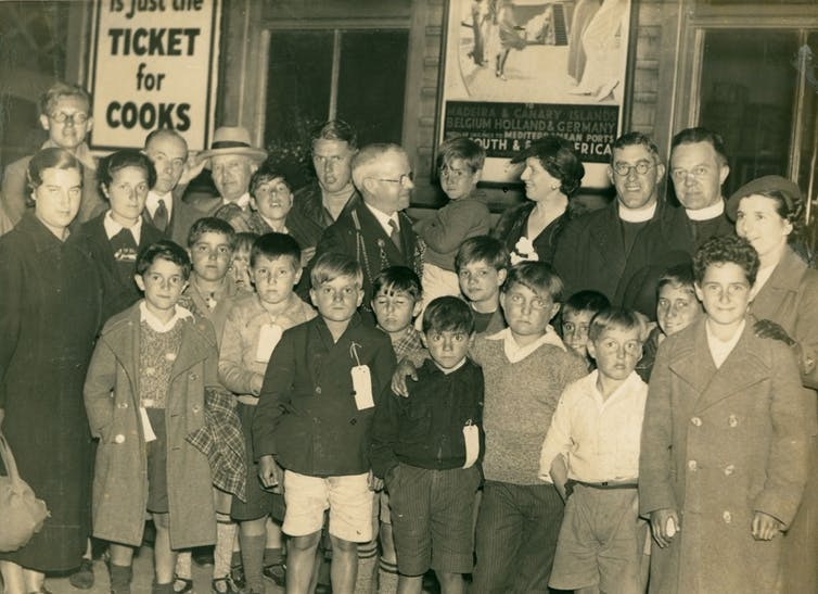 Basque children fleeing the Spanish Civil War arriving in Newcastle upon Tyne in 1937. Tyne & Wear Archives & Museums
