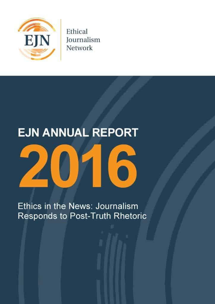 EJN Annual Report 2016: Ethics in the News